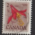 CANADA 1977 - Scott 707 used  - 2c, Western Columbine  (10-694)