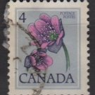 CANADA 1977 - Scott 709 used -  4c, Hepatica  (10-696)