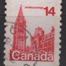 Canada 1977 - Scott 730 COIL used - 14c, Parliament Ottawa  (10-719)