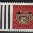 CANADA 1990 - Scott 1297 used -  34c, Christmas, Rebirth by J Beardy   (11-157)