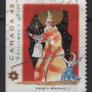 CANADA 1993 - Scott 1499 used - 43c,  Christmas, Swiety Mikolaj (11-175)