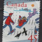 Canada 1996 - Scott 1627 used - 45c, Christmas, Chidren skiing (10-186)