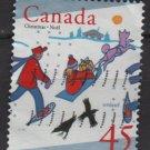 Canada 1996 - Scott 1627 used - 45c, Christmas, Chidren skiing (10-186)