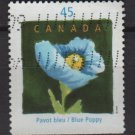 CANADA 1997 - Scott 1638 used - 45c,  Quebec en Fleur  (10-187)