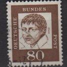Germany 1961 - Scott 836 used - 80 pf, Heinrich von Kleist  (A - 308)