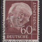 Germany 1954 - Scott  715 used - 60 pf, Pres. Theodor Heuss (11-341)