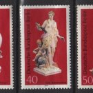 Germany, BERLIN, 1974 - Scott 9N350, 9N351 & 9N352, set of 3, mint no gum - Porcelain (12-150)