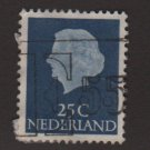 Netherlands 1953/71 - Scott 348 used - 25c, Queen Juliana (8-505)