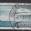 Germany 1986 - Scott 1471 used - 80 pf, Organization for economic cooperation  (12-395)