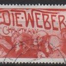 Germany 1987 - Scott 1542 used - 80pf, Gerhart Hauptmann, Die Weber   (12-417)