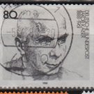Germany 1988 - Scott 1545  used - 80pf,  Jacob Kaiser, Labor Leader (12-415)