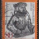 Germany 1988 - Scott 1551  used - 80pf,  Ulrich Reichsritter von Hutten (12-422)