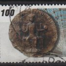 Germany 1990 - Scott 1596 used - 100 pf, Seal of Frederick II (12-483)