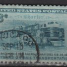 USA 1952 - Scott 1006 used - 3c, Train,  B. & O. Railroad  (7-441)