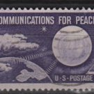 US 1960 - Scott 1173 used - 4c, Communication for Peace (12-490)