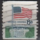 USA Coil 1968 - Scott 1338A used - 6c, Flag over White House (12-494)