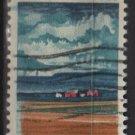 USA 1968 - Scott 1339 used -6c, Illionois Statehood, farm & fields  (12-497)