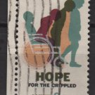 USA 1969 - Scott 1385 used - 6c, Cured Child, Hope for crippled  (12-504)