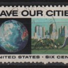 USA 1970 - Scott 1411 used - 6c, Anti-pollution issue, Save our Cities  (12-509)