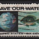 USA 1970 - Scott 1412 used - 6c, Anti-pollution issue, Save our Water   (12-510