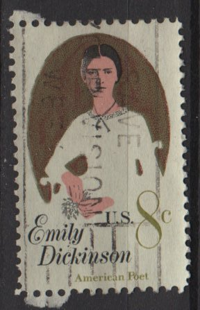 USA 1971 - Scott 1436 used - 8c, Emilly Dickinson   (12-517)