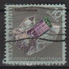 US 1974 - Scott 1539 used - 10c, Minerals,  Tourmaline (12-535)