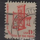 US 1975 - Scott 1593 used - 11c Americana issue, Printing press (12-548)