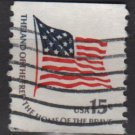 USA 1975 - Scott 1618c  used - 15c, Fort McHenry Flag (12-553)