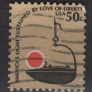 USA 1975 - Scott 1608 used - 50c, Americana issue, Iron Betty Lamp (12-551)