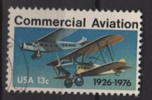 USA 1976 - Scott  1684 used - 13c,  Commercial Aviation  (o-218)