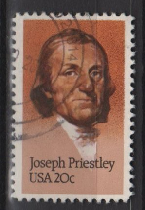USA 1983 - Scott 2038 used - 20c,  Joseph Priestley  (12-562)