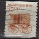 USA 1985 - Scott 2136 COIL - 25c Bread Wagon 1880s  (12-568)