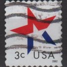 USA  2002 - Scott  3614  used -  3c, Patriotic Star (12-576)