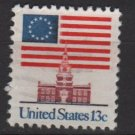 USA 1975 - Scott  1622 Perf. 11 x 10.3/4   used -  13c, Flag over independence Hall (12-582)