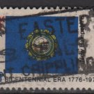 USA 1976 - Scott 1641 used - 13c, State Flag, New Hampshire     (o-202)