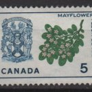 Canada 1964 - Scott 420 MH no gum -  5c, Mayflowers & arms of Nova Scotia  (C - 253)