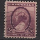 USA 1936 - Scott 784 used - 3c, Susan B Anthony  (J-680)