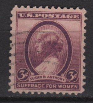 USA 1936 - Scott 784 used - 3c, Susan B Anthony  (J-680)