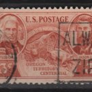 USA Stamp of 1948 - Scott 964 used - 3c, Oregon Territory (2-77)