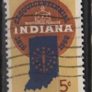 USA 1966 - Scott 1308 used - 5c, Indiana Statehood Sesquencentennial (13-20)