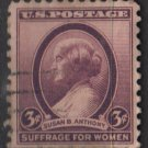 USA  1936 - Scott 783 used - 3c, Susan B Anthony (13-25)