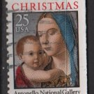 USA 1988 - Scott 2399 used  25c, Christmas, Madonna & Child  (A-14)