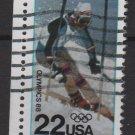 USA 1988 - Scott 2369 used - 22c, Winter Olympics 88, Calgary(A-46)