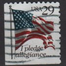 USA 1992 - Scott 2593 used - 29c, Flag, I pledge Allegiance   (A-73)
