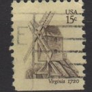 USA 1980 - Scott 1738 used - 15c, Virginia Windmill    (A-107)