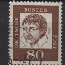 Germany 1961 - Scott 836 used - 80 pf, Heinrich von Kleist   (A-308)