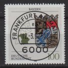 Germany 1992 - Scott 1700 CTO -Coats of Arms Bavaria Bayern   (B-495)