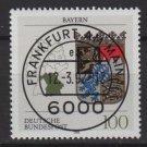 Germany 1992 - Scott 1700 CTO -Coats of Arms Bavaria Bayern   (B-495)