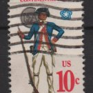 USA 1975 - Scott 1565 used - 10c, Uniform, Continental Army  (A-701)