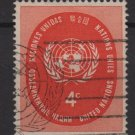 United Nations 1958 - Scott 63 used - 4c, UN seal (B-765)